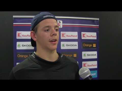 Jesperi Kotkaniemi (FIN) after 1:3 loss to Russia