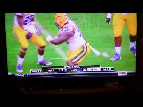 "LSU #90 shortly after "" injury"""