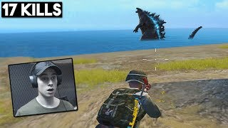 GODZILLA IS HERE! + FACECAM | 17 KILLS SOLO vs SQUAD | PUBG Mobile 🐼