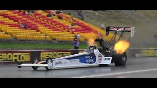 MARIANI FAMILY MOTORSPORTS TOP FUEL TESTING AT SYDNEY DRAGWAY 21.3.2015