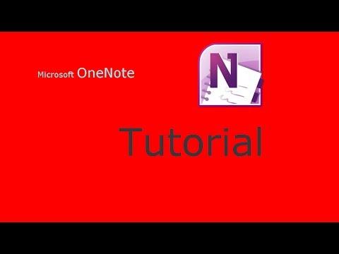 Microsft - OneNote Tutorial