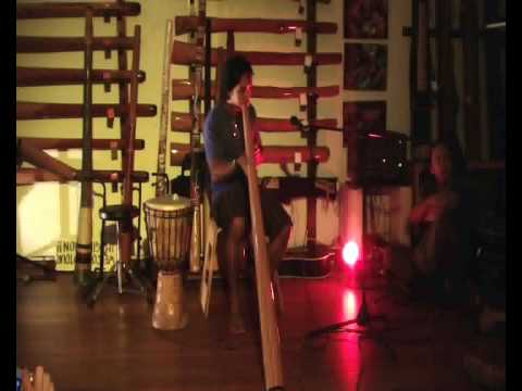 playing didgeridoo tony colley musical instrument store