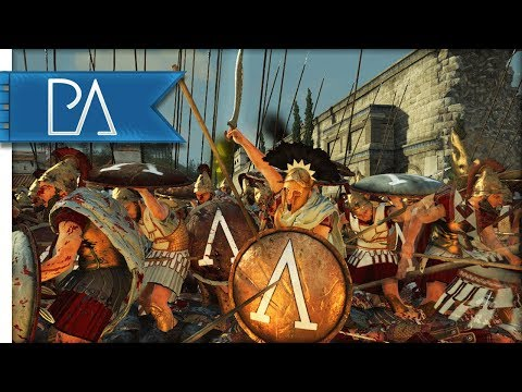 Sparta Must Hold Against Athenian Assault - 4v4 - Total War: Rome 2