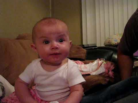 Daddy Scares Baby!!  Very Funny Video! -  Lilah