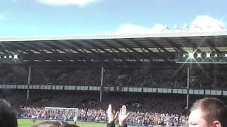 Sylvain Distin reception for his final Everton appearance