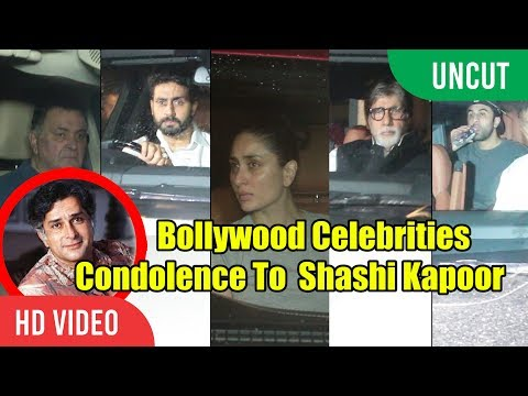 UNCUT - Bollywood Celebrities Condolence To Shashi Kapoor | Visit To Shashi Kapoor House