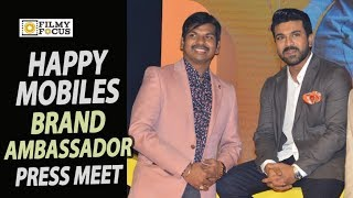 Ram Charan as Happi Mobiles Brand Ambassador Press Meet