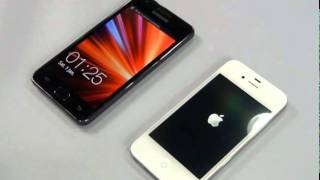 Samsung Galaxy S II vs Apple iPhone 4 White EXPANSYS JP