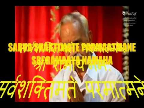Sri Ram Amritvani - Part - 01 -sarv Saktimey Parmatmaney Sri Ramaaya Namaha.wmv video