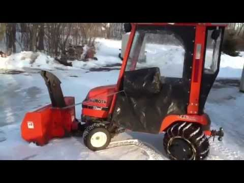 SOLD! Kubota G1900S For Sale with cab. snow blower and mower.