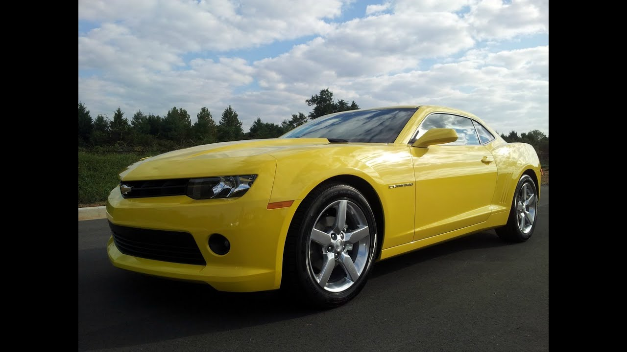 2014 Chevrolet Camaro Bright Yellow 1lt 323 Hp 3 6 V 6