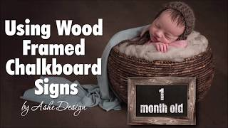 Working With Wood Framed Chalkboard Sign Photoshop Templates
