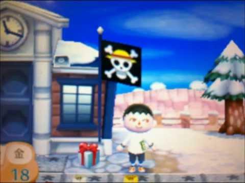 とびだせ どうぶつの森 海賊旗 ルフィ ワンピース ONEPIECE QRコード