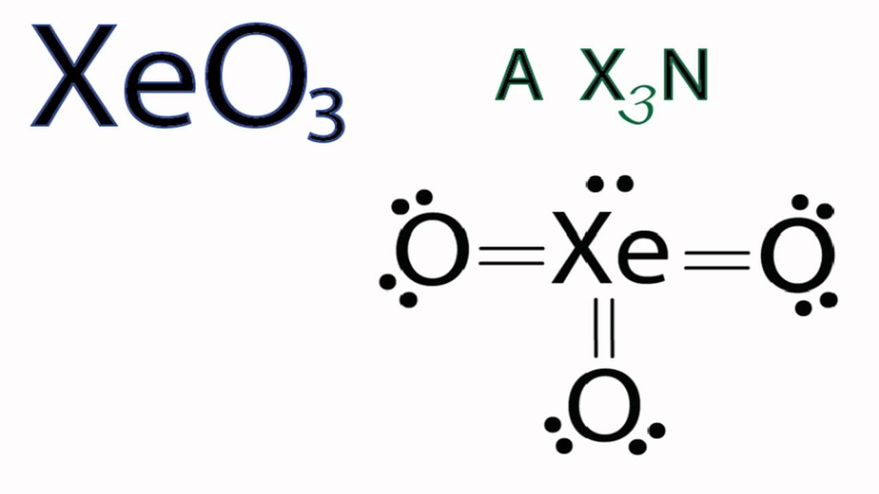 xeo3 molecular geometry    shape and bond angles