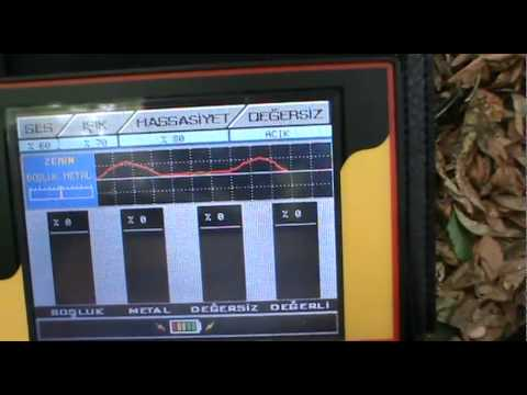 Jeosonar 3D Dedektör ve Jeotara alan tarama ile yapılan arazi testi
