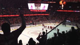 Miikka Kiprusoff's Standing Ovation for His Last Game as a Calgary Flame - April 19th 2013