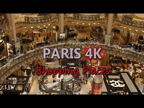 Ultra HD 4K Paris France Travel Lifestyle Fashion Lafayette Shopping Mall UHD Video Stock Footage