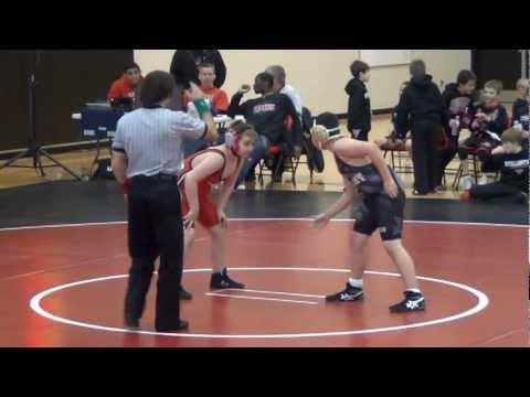 Tyler pins an opponent at the MN/USA Youth Folkstyle Wrestling State Tournament 3-4-2012