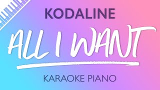 All I Want Piano Karaoke Instrumental Kodaline