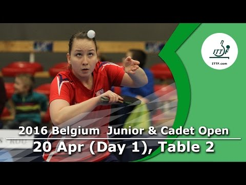 2016 Belgium Junior & Cadet Open - Day 1 LIVE (TABLE 2)