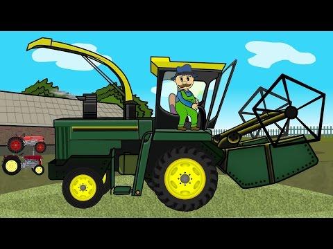 ☻ Rolnik | Farmer Works - Maize | Bajki Traktory ☻