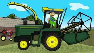 ☻ Rolnik   Farmer Works - Maize   Bajki Traktory ☻