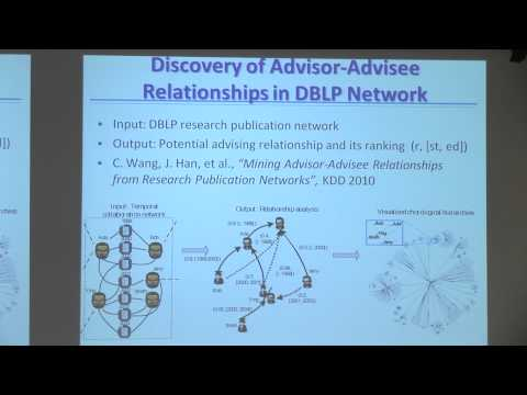 [PURDUE MLSS] Mining Heterogeneous Information Networks by Jiawei Han (Part 2/2)