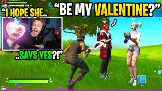 This kid STOLE a streamers GIRLFRIEND on VALENTINE'S DAY in Fortnite... (he got mad)