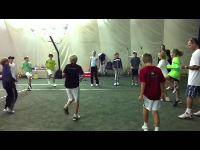 Toronto Tennis City ACE physical warm up
