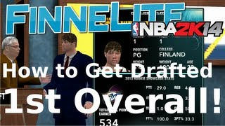 NBA 2K14: My Career How to Get Drafted 1st Overall! Rookie Showcase, Draft Interview and Draft
