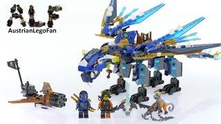 Lego Ninjago 70602 Jay´s Elemental Dragon - Lego Speed Build Review