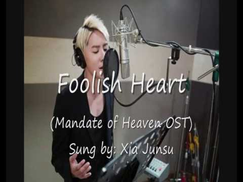 "Mandate of Heaven OST ""Foolish Heart"" by Xia Junsu (English & Romanized)"