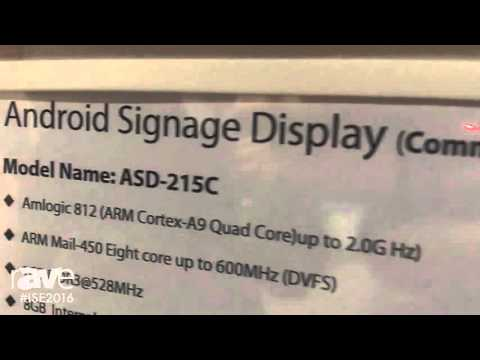 ISE 2016: Shenzhen Enjoy Technology Overviews ASD-215C Android Signage Display