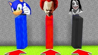 Minecraft : DO NOT CHOOSE THE WRONG WATERFALL (PENNYWISE,SONIC,JEFF THE KILLER)XboxOne/PE/MCPE)