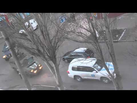 18.02.2015 Сопровождение Порошенко в Артемовске