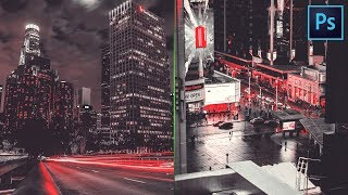 Red and Black Color Grading Effect in Photoshop | Photo Effects | Photoshop Tutorial (2018)