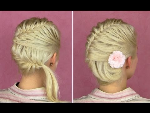 French fishtail braid ...