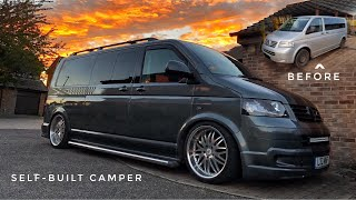 VW Transporter T5 DIY self built camper
