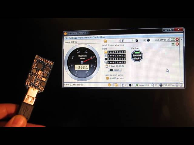 Sapphire Block Erupter - USB Bitcoin Miner 330 Mhash @ 2,5 W