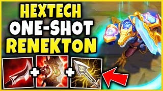 *NEW* MYTHIC RENEKTON ONE-SHOT BUILD! HEXTECH RENEKTON SKIN SPOTLIGHT! - League of Legends