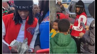 King Von Goes Back To O Block In Chriaq To Give Back On Christmas