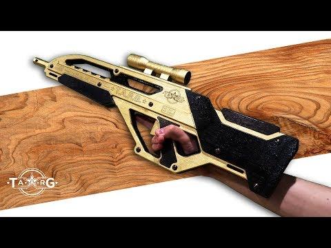 Как сделать из дерево револьвер 127