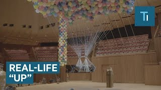 This Artist Was Suspended By 20,000 Balloons Like The Real-Life