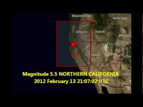 M 5.5 EARTHQUAKE  - NORTHERN CALIFORNIA 02/13/12