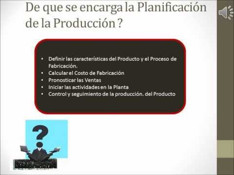 VIDEO PLANIFICACION DE LA PRODUCCION