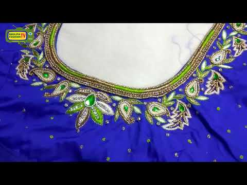 zardosi work on blouses||zardosi work blouse neck designs||maggam work blouse designs simple
