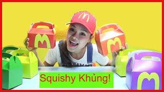 Truy Tìm SquishyJumbo Bất Ngờ trong Những Hộp Mcdonald Happy Meal! chị bí đỏ - đồ chơi trẻ-