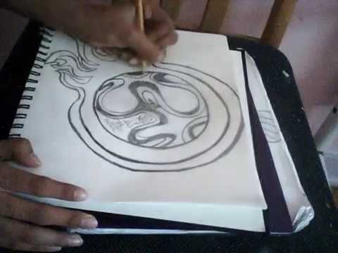 How To Draw A Soccer Ball With Flames Step By Step