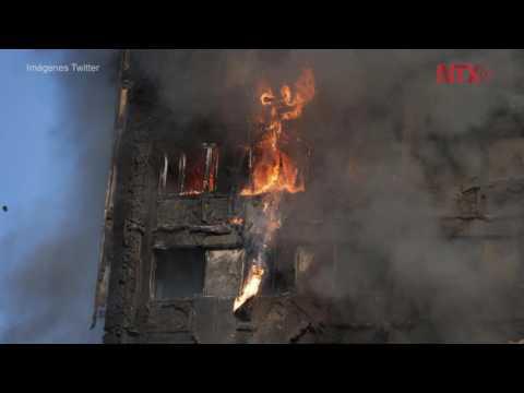 Incendio en un edificio de Londres deja al menos seis muertos