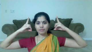 Neck movements or Greeva Bheda in Bharatanatyam
